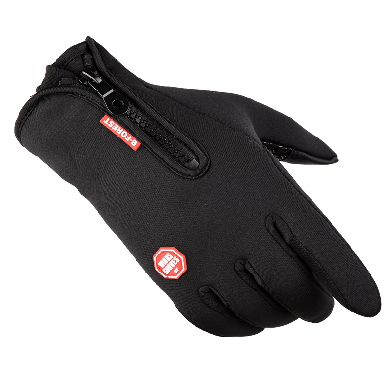 Full Finger waterproof Fleeces cycling winter gloves for hiking rocking and skiing black yellow blue and