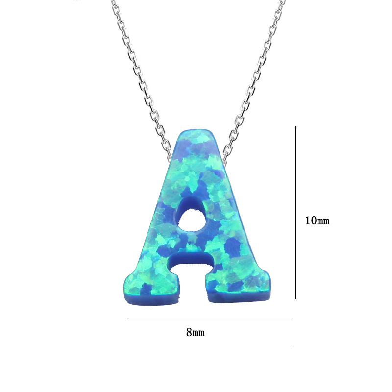 US $5 39 10% OFF|Cute Letter A S Pendant Necklace Women Imitation Opal  Letters Necklaces for Women Girl Jewelry Party Gifts-in Pendant Necklaces  from