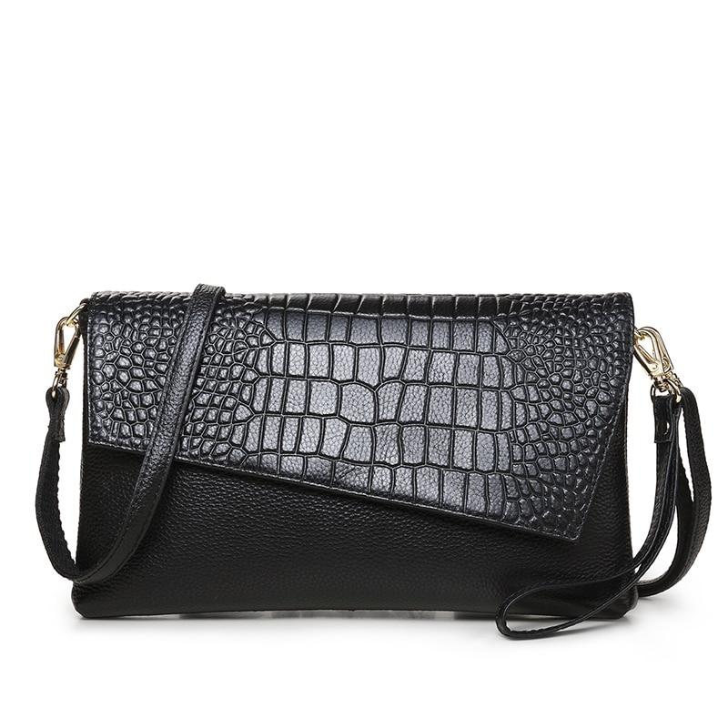 купить Women Day Clutch bags Genuine Leather Handbags Shoulder Bags Messenger Bag Women's Clutches Real Leather Crossbody Bag по цене 1835.93 рублей