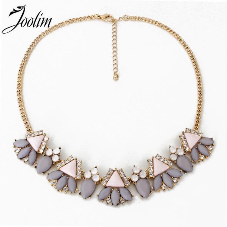 JOOLIM Perhiasan Grosir / Pink Hitam Bunga Choker Kerah Kalung Desain Perhiasan Pesta Pernikahan Perhiasan Drop Pengiriman