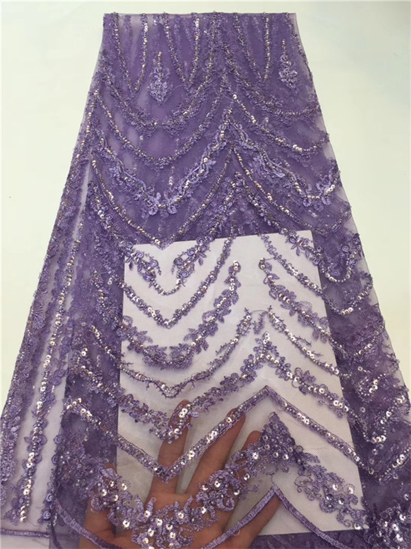 Nigerian Mesh Lace Fabric Sequin Embroidered Lace Guipure purple African Voile Net Lace fashion Style Wedding Lace  pffz310Nigerian Mesh Lace Fabric Sequin Embroidered Lace Guipure purple African Voile Net Lace fashion Style Wedding Lace  pffz310