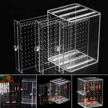 Acrylic Jewelry Storage Dustproof Transparent Women Jewelry Box Earrings Display