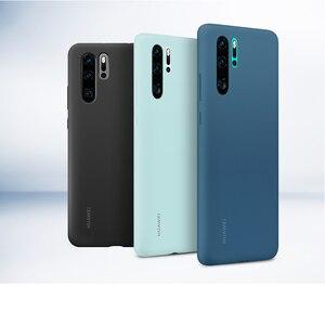 Image 3 - Original Huawei P30 P30 Pro กรณี HUAWEI อย่างเป็นทางการ Liquid ซิลิโคนป้องกันไมโครไฟเบอร์ด้านใน Huawei P 30 P 30Pro กรณี