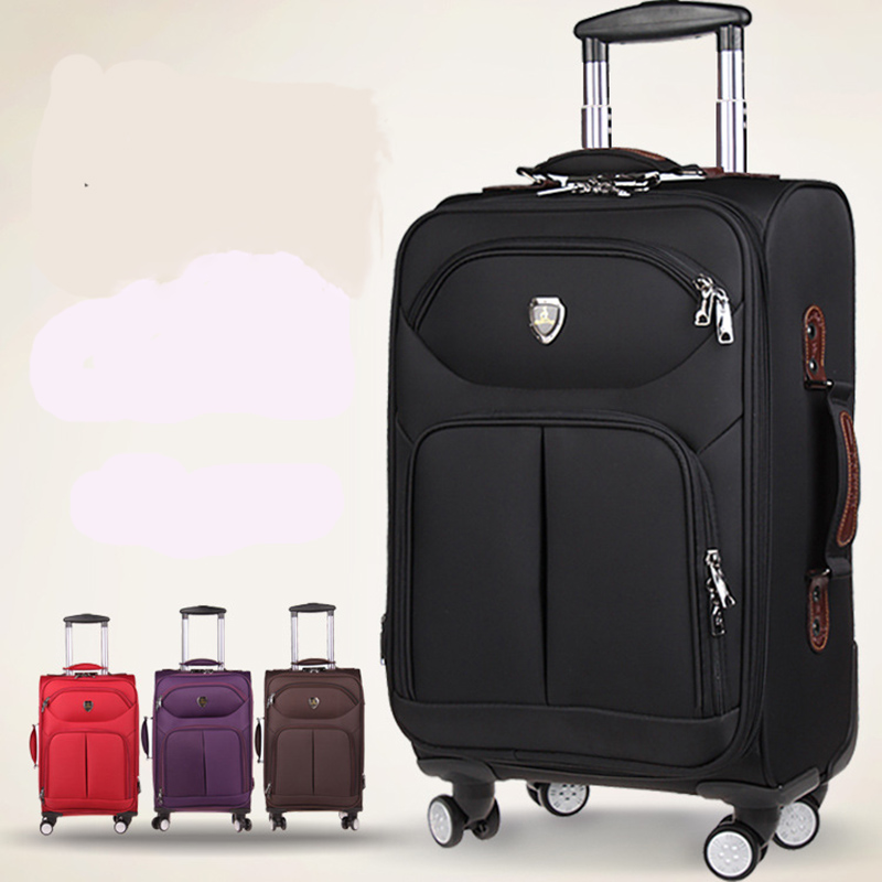 BeaSumore Oxford Rolling Luggage Spinner 20 Inch Carry Ons Suitcase Wheels 28/32 Inch High Capacity Travel Bag Business Trolley