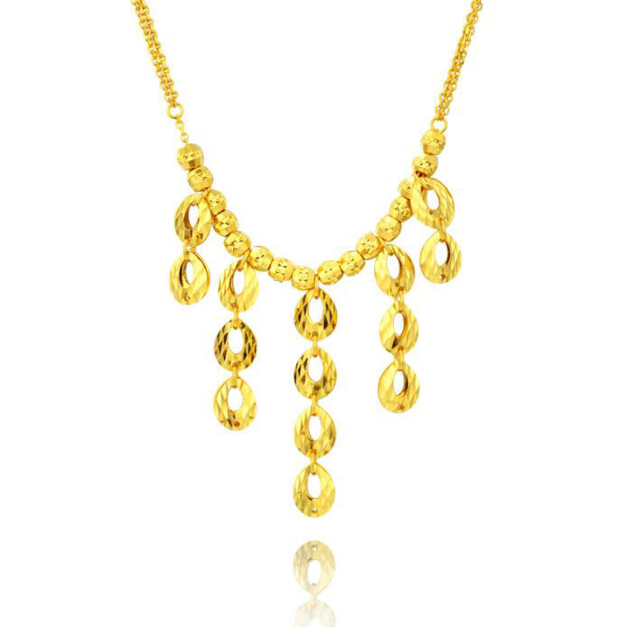ЛУЧШИЙ Чистый 999 24 К желтого золота круглый кулон круг Цепочки и ожерелья цепь 15.70 г
