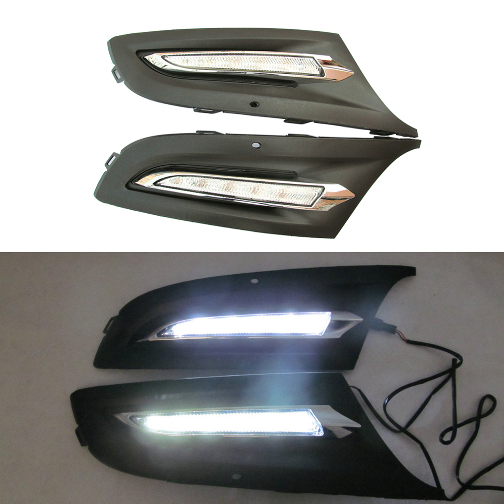 For Volkswagen Polo 2011 2012 2013 Car Fog Light Lamp Cover Driving Lamp Headlights led day running light DRL Cover Replacement