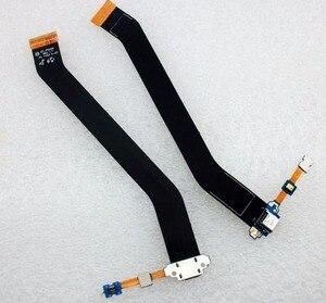 Image 1 - USB разъем для зарядного устройства, док станция с микрофоном, гибкий кабель для Samsung Galaxy Tab 3 10,1, P5200, P5210, фотогалерея, порт для зарядки