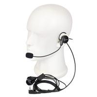 uv 5r uv ניו 2 פין אפרכסת מיקרופון אצבע PTT אוזניות עבור Kenwood Baofeng רדיו UV-5R 777 888s WOUXUN HYT PUXING איכות גבוהה C2014A (2)