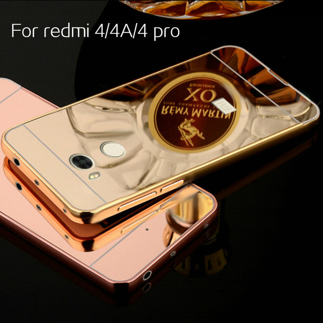 newest 44cbf 7950c US $2.65  Redmi 4 Pro Case Plating Mirror Aluminum Metal Bumper Acrylic PC  Back Cover for Xiaomi Redmi 4A / Redmi 4 Prime Phone Cases Capa-in Phone ...