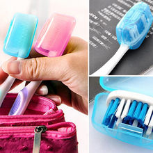 5pc toothbrush storage box Portable Toothbrushes Head Cover Holder Travel Hiking Camping Case organizador25(China)