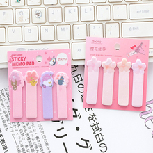 лучшая цена 1pack/lot Beautiful Cherry Animal Mini Memo Cute Note Stickers Memo Pad School Student Girl Gift Office Supplies Message Label