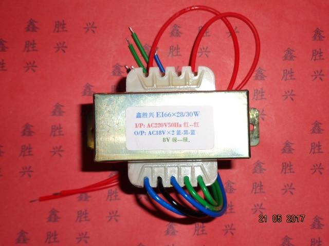 18V-0-18V 0.72A 8V 0.5A Transformer 220V input 30VA EI66*28 Multimedia Amplifier Active Speaker Audio Subwoofer Transformer