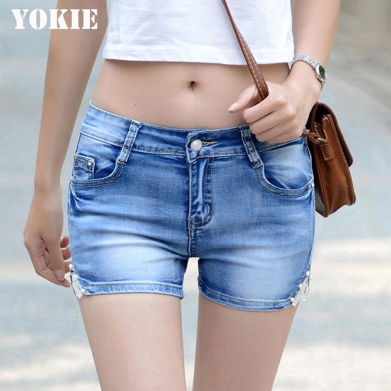 Plus Size White Jeans Shorts Women Sexy Ripped Short Pants 2016 Summer  Shorts Feminine Casual Denim Shorts woman Plus size