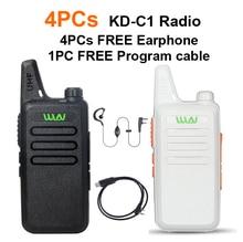 Mini Ham Radio Walkie Talkie WLN KD-C1 5W long range better than BF-888S UHF FM Transceiver