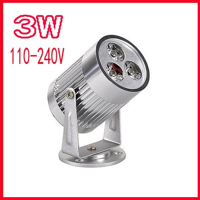 ФОТО Free Shipping High Power 3W 110-240V White / Warm White Garden 3*1W LED Flood spotlight Wholsale & Retail