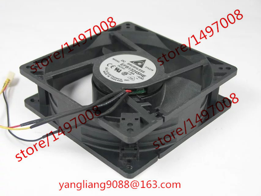 DELTA EFB1324SHE 4J53 DC 24V 1.38A 127x127x38mm Server Square Fan eba 1324 s 4 мм