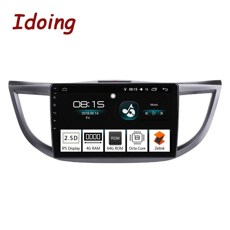 Idoing 10.24G+64G 8 Core Car Android 8.0 Radio Multimedia Player For Honda CRV 2012 2015 GPS Navigation Glonass 2.5D IPS Screen