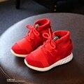 UE 25 ~ 28 del Zurriago del Cuero Genuino de Corte Alto Zapatos de Los Niños Para Girls & Boys Transpirable Chaussure Enfant 3 Colores Boot Niños Sneakers