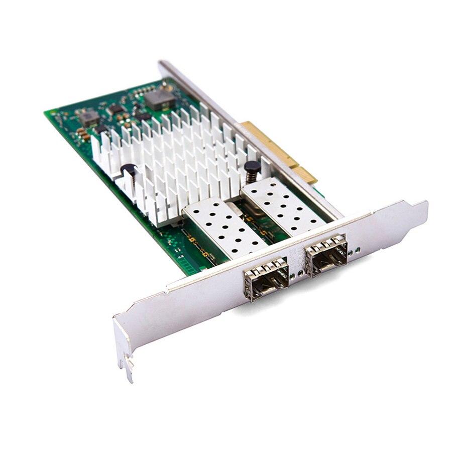 Подробнее о High speed 10 gigabit pcie*8 dual port SFP+ fiber network card  X520 82599ES/E10G42BTDA original dual port gigabit fiber network card for intel x520 82599es