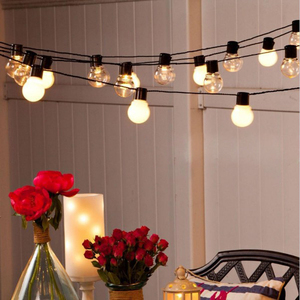 Image 2 - 10 M 38 หลอดไฟ LED String Fairy Light คริสต์มาส G45 5 M 10 M งานแต่งงาน LED Fairy string Light festoon Garland กลางแจ้ง