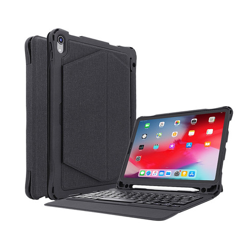 For iPad Pro 11 inch Wireless Bluetooth Keyboard Case For Apple Stand Smart Slim  Micro USB Charing cable 56# Multan