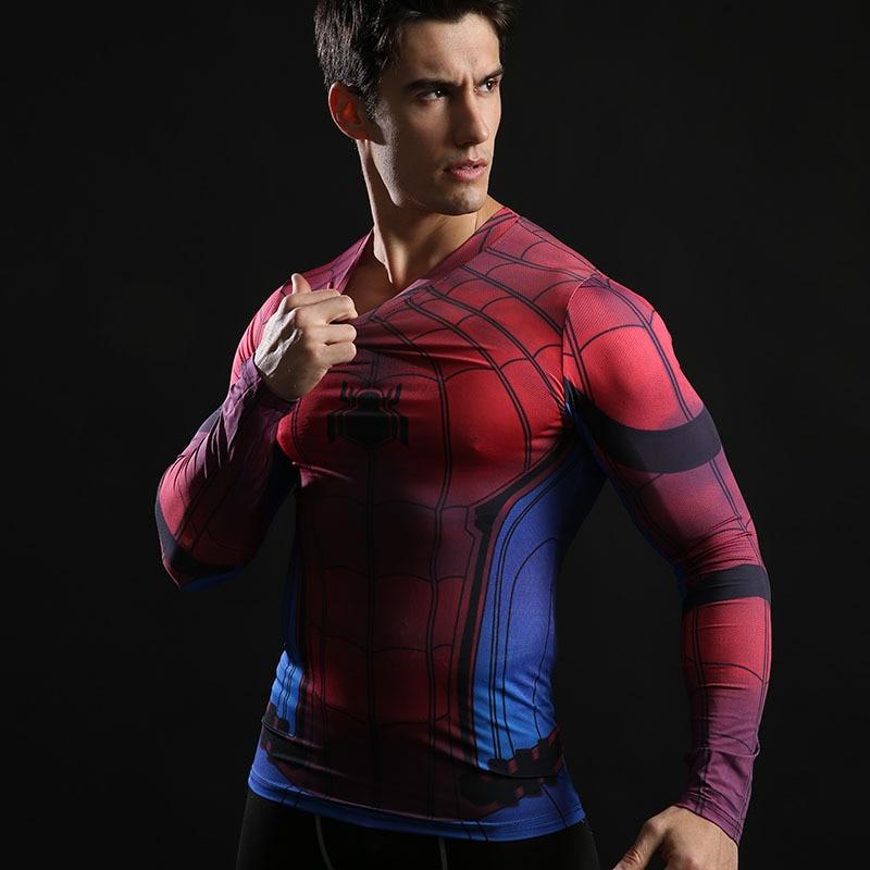 Nieuwe Arrivel T-shirts Spiderman Ironman Kapitein Compressie Tops - Herenkleding - Foto 5