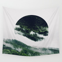 цены Hot sale fashion beautiful scenery view  letters wall hanging tapestry home decoration wall tapestry tapiz pared 1500mm*1500mm