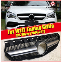 For MercedesMB W117 CLA45 look sport grille grill ABS Silvery Without Sign CLA Class CLA180 200 250 Front Bumper Grills 2014-18