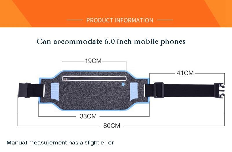 Professional Running Waist Pouch Belt Sport Belt Mobile Phone Men Women With Hidden Pouch Gym Bags Running Belt Waist Pack (11)