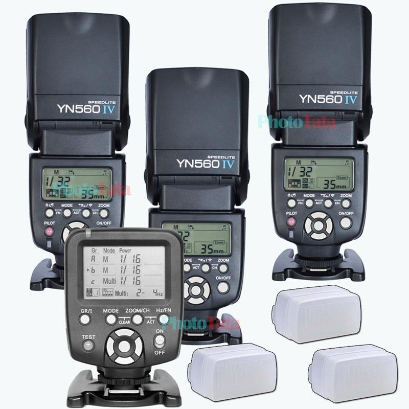 3x Wireless Speedlite Flash Yongnuo YN560 IV YN560TX Flash Controller For Canon Nikon with free 3