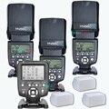 3x sem fio flash speedlite yongnuo yn560 iv + yn560tx controlador flash para canon nikon com livre 3 caixa de flash difusor