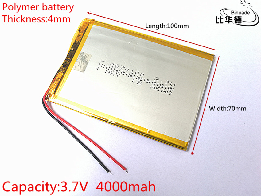 3.7V 4000mah <font><b>4070100</b></font> polymer lithium ion battery Li-ion battery for tablet pc 7 inch MP3 MP4 image