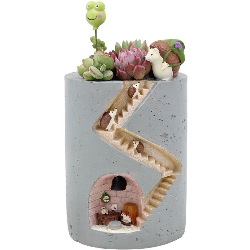 Créatif Micro Paysage Fleur Pot Suspendus Hérisson Design Fleurs Paniers Plantes succulentes Titulaire Maison Bonsaï Pots de Jardin
