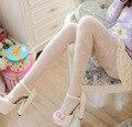 Doce nova chegada fino branco / roxo / rosa flor mulheres Jacquard rendas meias de meia calça da menina para a primavera e verão