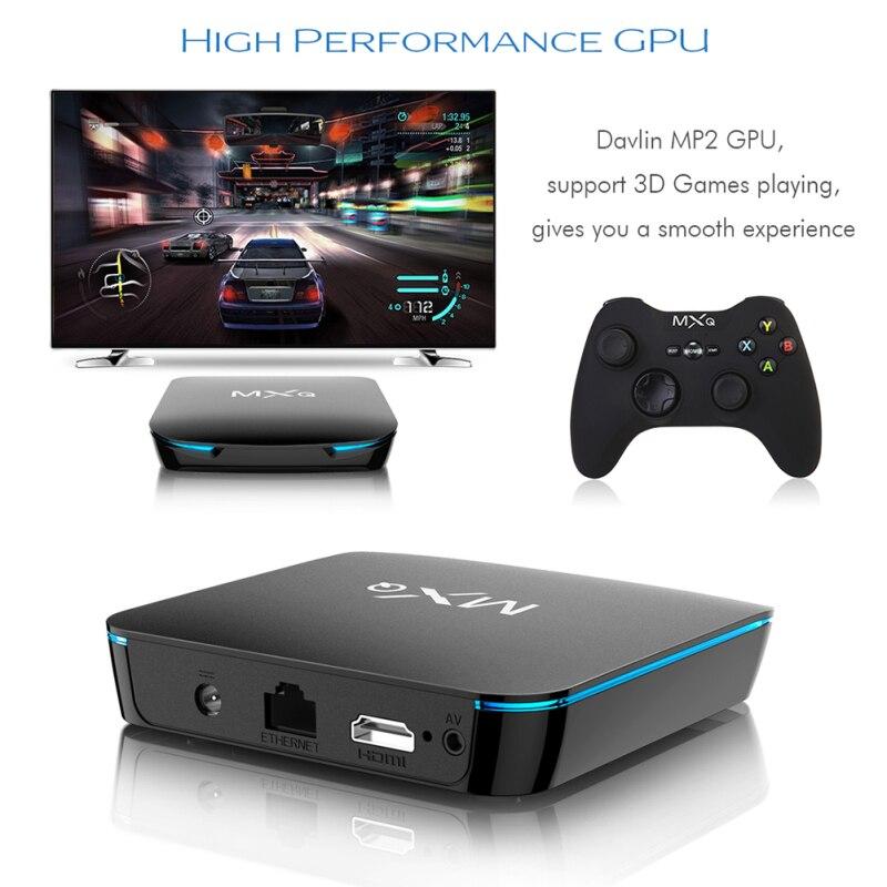 2019 MXQ 4 K TV Box Android 8.1 Bluetooth 4.2 lecteur multimédia Intelligent WiFi HD Intelligent hométique décodeur vidéo Intelligent