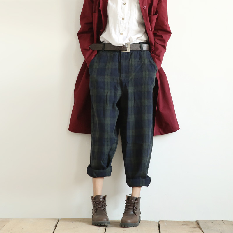 2018 Women Vintage Literary Classic Plaid Loose Casual