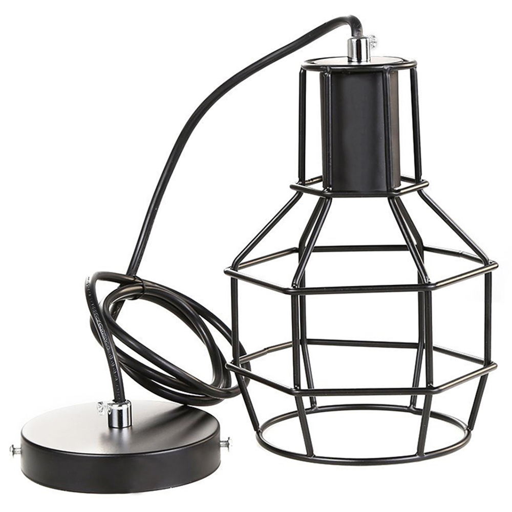 Retro Industrial Edison Vintage Chandelier Ceiling Lamp Pendant Lamp - Antique Finish Metal Lampshade(Black) vintage edison chandelier rusty lampshade american industrial retro iron pendant lights cafe bar clothing store ceiling lamp
