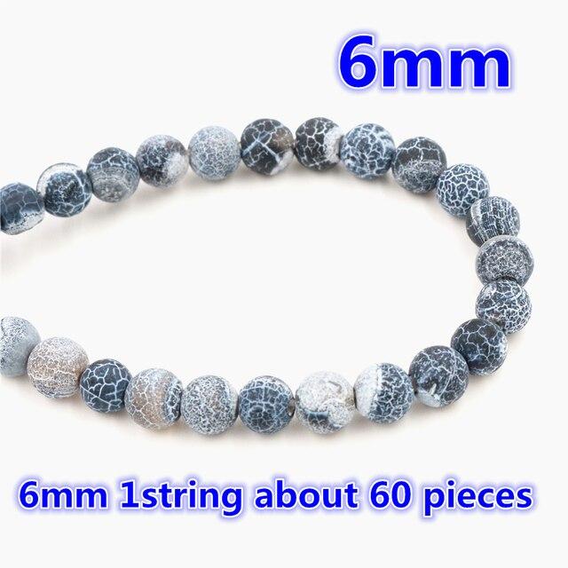 4mm 6mm 8mm 10mm Natürliche Vulkanischen Stein Navy weiß Stein Runde perlen Für schmuck machen Großhandel und Einzelhandel