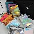Holograma Designer de moda Carteira do Cartão de Nome ID do Cartão de Crédito Organizador Goleiro Titular mini saco