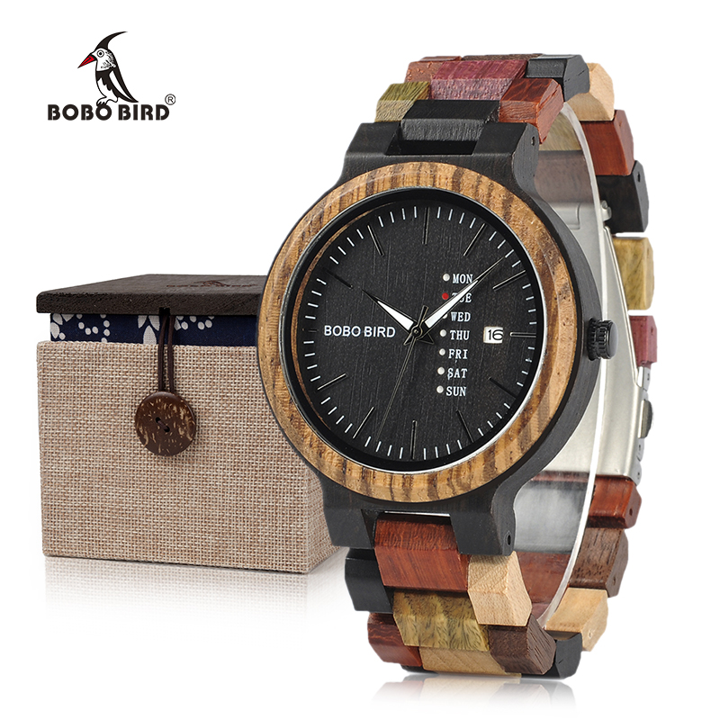 BOBO VOGEL Relogio Masculino Houten horloges met volledige - Herenhorloges