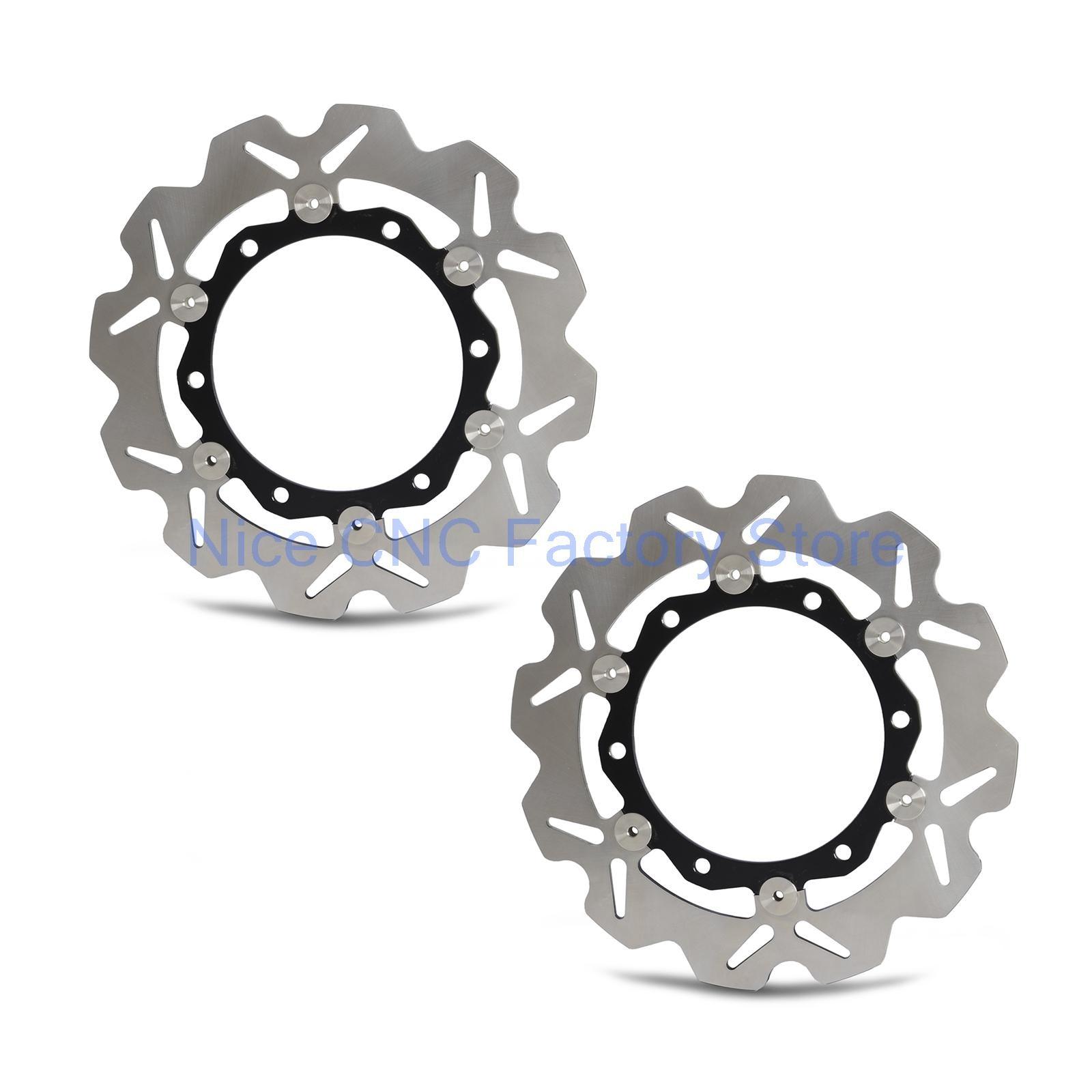 цены на Motorcycle Front  Rotor Brake Disc For Kawasaki ZX6R Ninja ZX12R ZX600 ZR550 ZXR400 GPZ1100 Z750S Z1000 GTR1000 ZZR600 ZR-7S