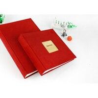 5 6 Inch,7 8 Inch Velvet Felt Cover Handmade DIY Vintage Photo Album 30 Black Sheets Home Decoration Birthday Gift E $