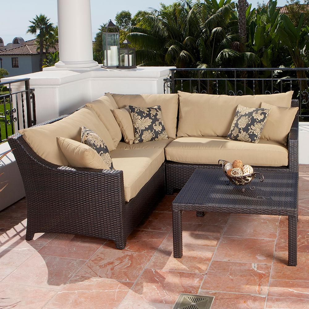 trade assurance comfortable outdoor furniture patio table set rattan corner sofa on sale
