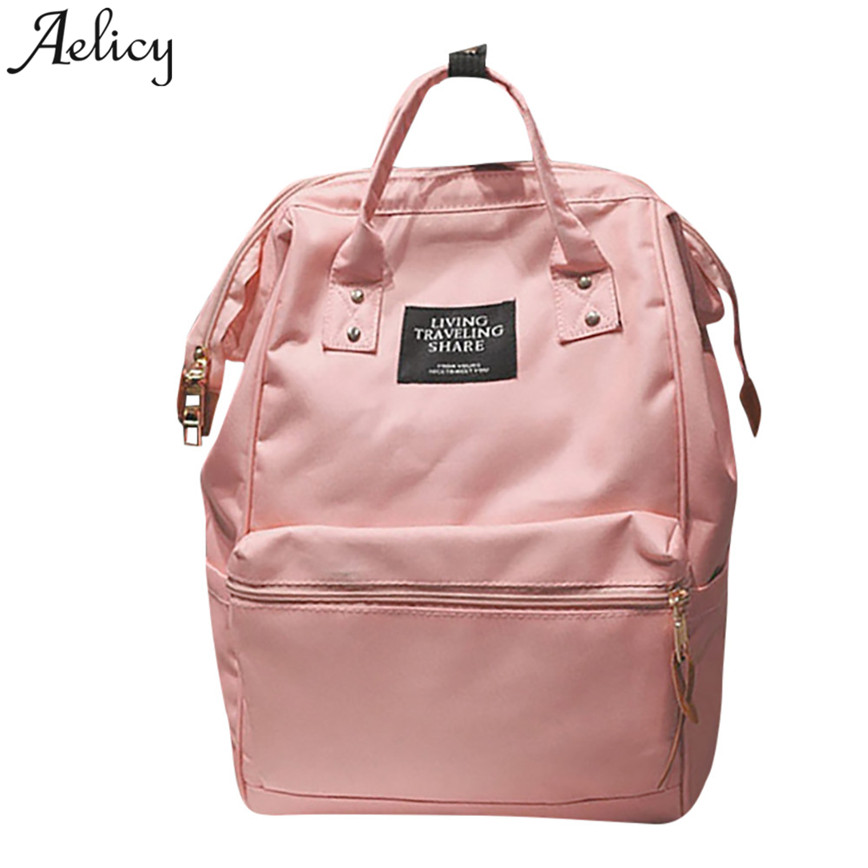 Aelicy Fashion Unisex Travel Backpack Women Large Capacity Hand Bag Zipper Shoulder Bags Teenager School Backpack S23