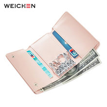 WEICHEN Brand Multi-function Women Key Wallet High Quality Soft Leather Female Card Holder Ladies Key Cover Case Organizer Bag(China)