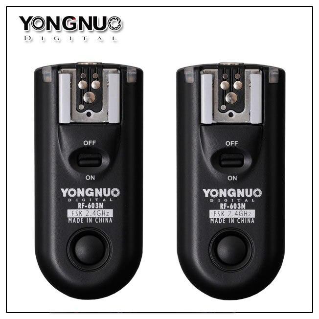 Светодиодная лампа для видеосъемки Yongnuo RF-603 C1, RF603 C1 РФ 603 вспышка триггера 2 трансиверы для Canon 1000D 450D 400D 350D 300D 60D