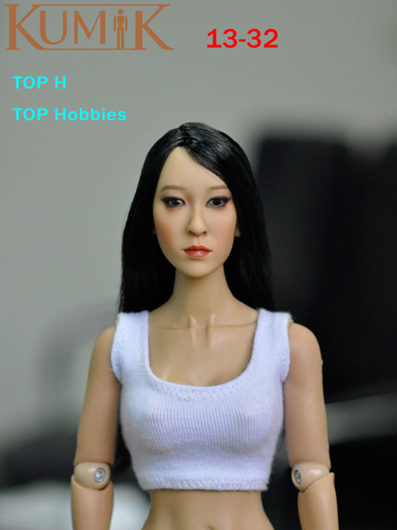 KUMIK Head KM13-32 1:6 Scale Smoked Makeup Beauty Girl Female Head Sculpt Fit Hot Toys Phicen 12 Action Figure Body Doll 1 6 scale figure accessories doll female head for 12 action figure doll head shape fit phicne