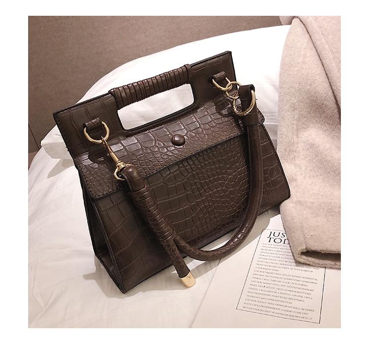 3 (4)Sac à Main Croco Style Vintage en simili cuir