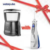 Waterpulse V400 & V700 Oral Orrigator Dental Portable Water Flosser Oral Hygiene Water Oral Irrigation 240ml 9PCS Tips