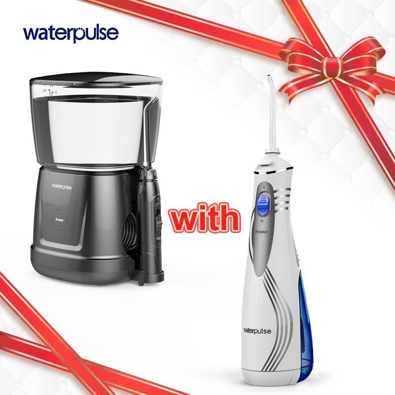 Impulsion DE l'eau V400 & V700 Oral Orrigator dentaire Portable Jet Dentaire Oral Hygiene Water irrigation orale 240 ml 9 pièces conseils
